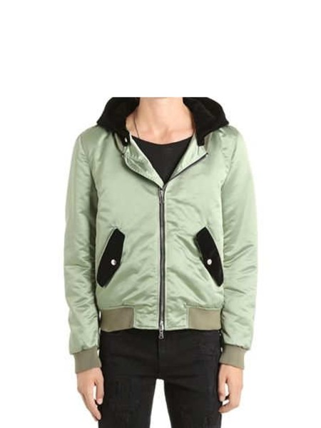 Shop ROUTE DES GARDEN  BOMBER: BOMBER VERDE MUST HAVE FALL/WINTER ROUTE DES GARDEN UNISEX POLIAMMIDE, CAPPUCCIO NERO IN VELLUTO REMOVIBILE, CHIUSURA FRONTALE CON ZIP, POLSI E FONDO A COSTINE, DUE TASCHE FRONTALI, INTERNO FODERATO, SLIM FIT, MADE IN ITALY